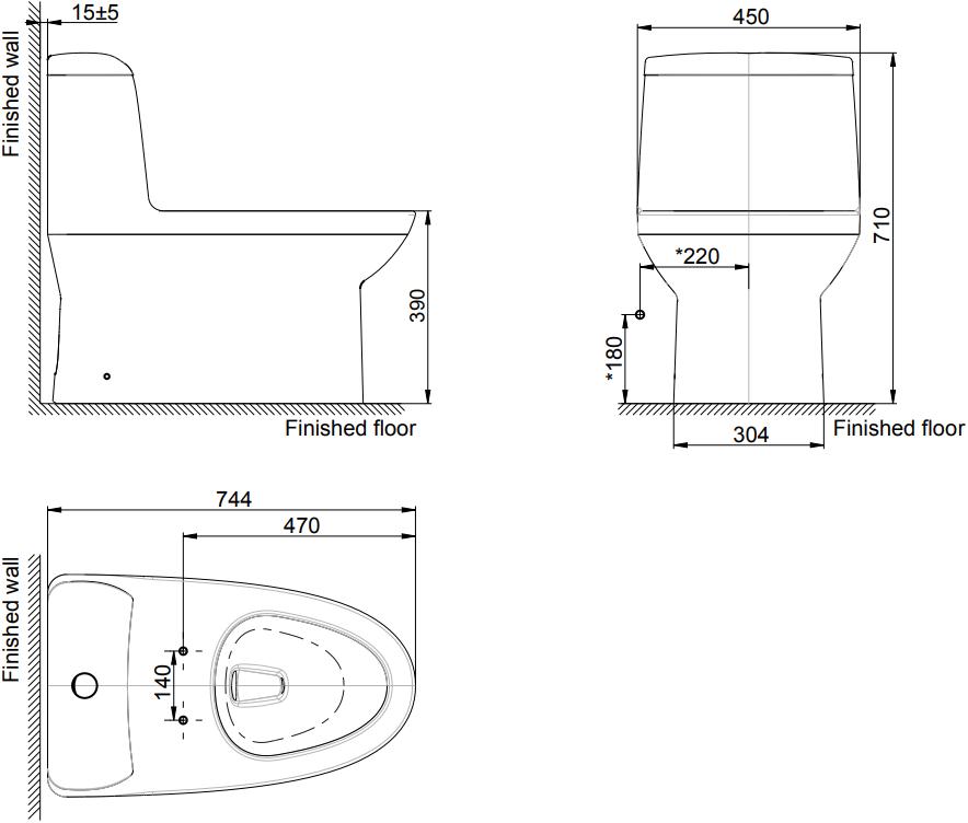 TF-2041SC-WT-0 Dimension