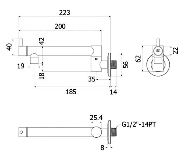 HFVSB-1120101 Dimension