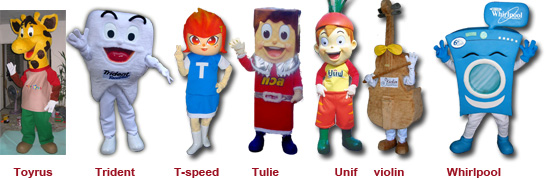Mascot Toyrus Trident T-speed TOT Tulie Unif violin Whirpool