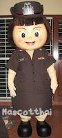 ชุดมาสคอตตำรวจหญิง