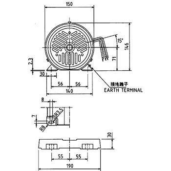 TOSHIBA / Explosion proof motor / IK-FBKW8X-4P