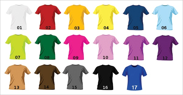 T Shirt Color