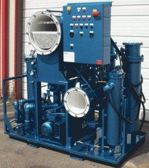 เครื่องกรองและแยกน้ำออกจากน้ำมันหล่อลื่นด้วยการกลั่นสุญญากาศ