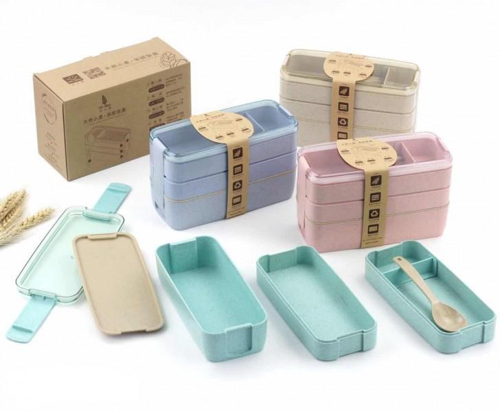 K1755 กล่องข้าว สินค้านำเข้า ของพรีเมี่ยม ของฝาก ของแจก ของแถม พรีเมี่ยม สกรีนโลโก้