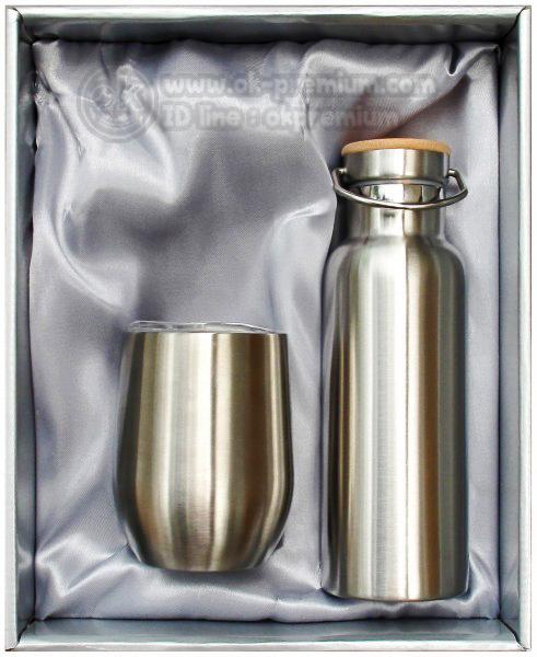 K811 ชุดกิฟท์เซ็ทขวดน้ำร้อน-น้ำเย็น ขวดสแตนเลส สินค้านำเข้า ของพรีเมี่ยม ของฝาก ของแจก ของแถม พรีเมี่ยม สกรีนโลโก้