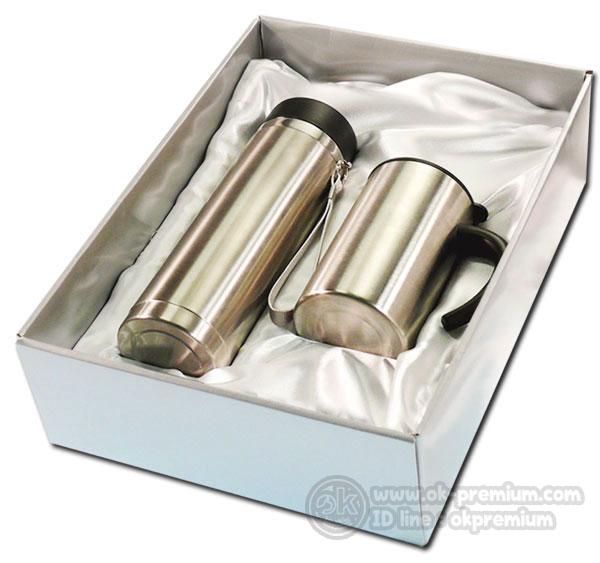 K986 ชุดกิฟท์เซ็ทขวดน้ำร้อน-น้ำเย็น ขวดสแตนเลส สินค้านำเข้า ของพรีเมี่ยม ของฝาก ของแจก ของแถม พรีเมี่ยม สกรีนโลโก้