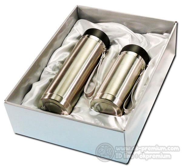 K990 ชุดกิฟท์เซ็ทขวดน้ำร้อน-น้ำเย็น ขวดสแตนเลส สินค้านำเข้า ของพรีเมี่ยม ของฝาก ของแจก ของแถม พรีเมี่ยม สกรีนโลโก้