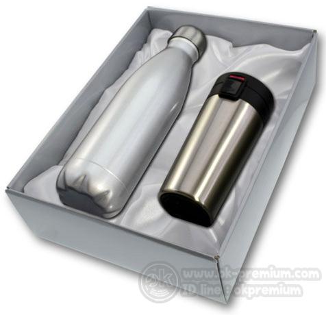 K996 ชุดกิฟท์เซ็ทขวดน้ำร้อน-น้ำเย็น ขวดสแตนเลส สินค้านำเข้า ของพรีเมี่ยม ของฝาก ของแจก ของแถม พรีเมี่ยม สกรีนโลโก้
