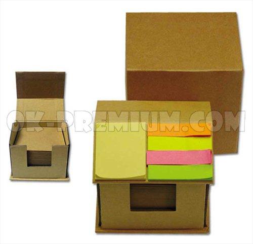 K122 กระดาษโน๊ตพร้อมกล่องแบบรีไซเคิ้ล พร้อมสกรีน ของพรีเมี่ยม ของแจก สินค้านำเข้า ของชำร่วย ของแถม กระดษษโน๊ต