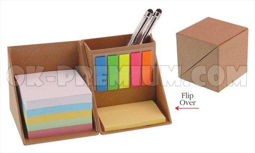 K123 กระดาษโน๊ตพร้อมกล่องแบบรีไซเคิ้ล พร้อมสกรีน ของพรีเมี่ยม ของแจก สินค้านำเข้า ของชำร่วย ของแถม กระดษษโน๊ต