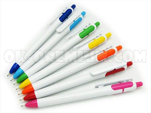 P285 ปากกาพลาสติก ปากกานำเข้า ปากกาพรีเมี่ยม ปากกา สกรีนฟรี ของแจก ของพรีเมี่ยม ของชำร่วย ปากกาแจกฟรี ปากกาแจก