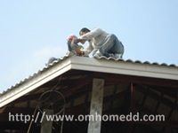 งานมุงหลังคา สร้างบ้าน