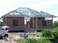 งานเหล็กหลังคา สร้างบ้าน