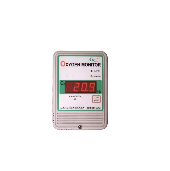 เครื่องวัดแก๊สออกซิเจน ,เครื่องตรวจจับรอยรั่วแก๊ส , Fixed , Fixed Gas , Air C , Japan , สอบเทียบเครื่องวัด , การใช้งานเครื่อง ,Fixed type , OXYGEN MONITOR ,Air-C Series