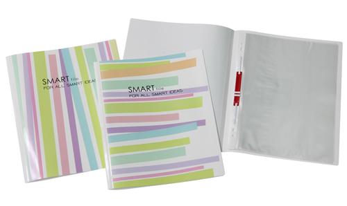 แฟ้มพับ+ลิ้นแฟ้ม และซองใสเจาะ 11รู Smart File #MP-301 & 806