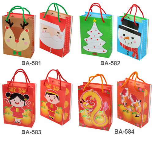 greeting bag, shopping bag, plastic bag, christmas, chinese new year