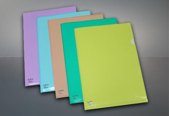 แฟ้มซอง แฟ้มพลาสติก, สีพาสเทล, Lshape, file,folder