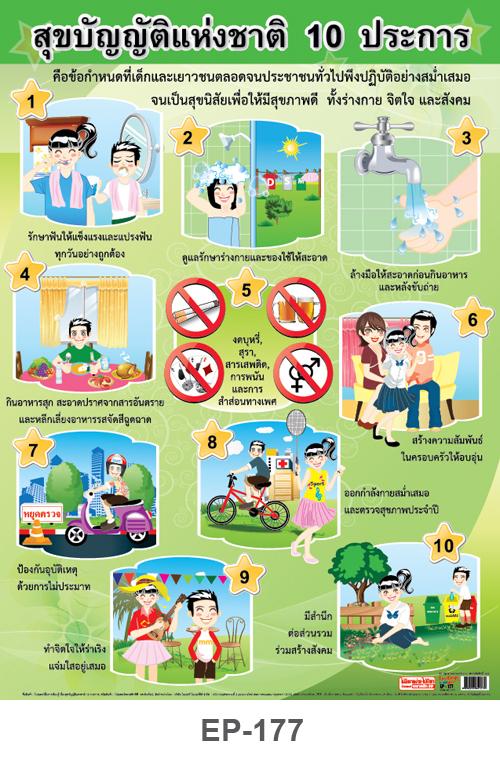 สุขบัญญัติแห่งชาติ 10 ประการ, healthy 10
