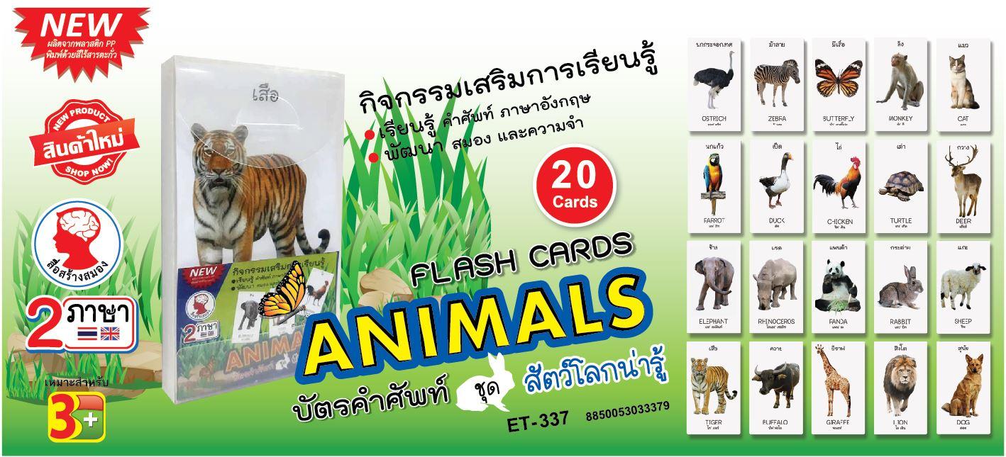 บัตรคำศัพท์, สัตว์โลกน่ารู้, กิจกรรมเสริมการเรียนรู้, flash cards, animals