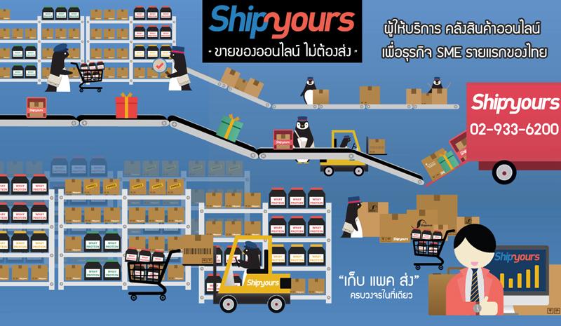 Shipyours คลังสินค้าออนไลน์ เพื่อธุรกิจ SME online เจ้าแรกในไทย