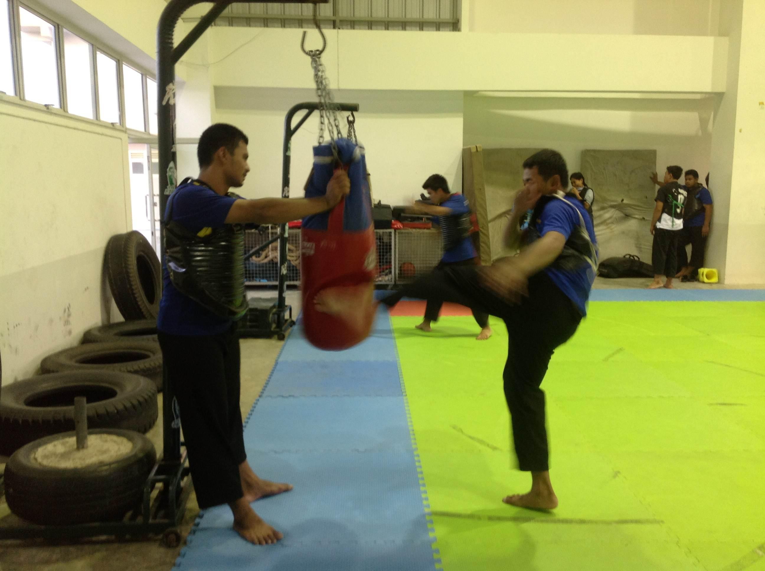 ภาพบรรยากาศการเก็บฝึกซ้อมนักกีฬาปันจักสีลัตทีมชาติไทย