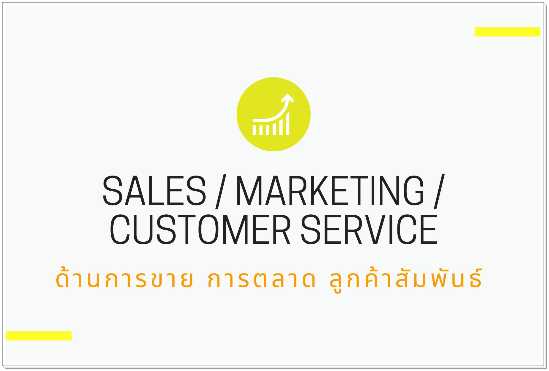 ด้านการขาย / การตลาด / ลูกค้าสัมพันธ์ (Sales / Marketing / Customer Service)