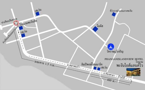 Map- Phangan Island View Hotel