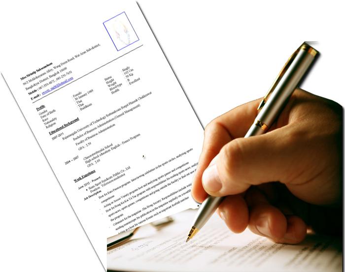 รับเขียน Resume รับทำเรซูเม่ ติดต่อจ้างแปลเรซูเม่ รับแปล Resume