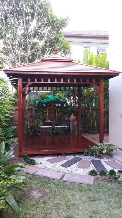 ศาลาไม้สักทอง ศาลาไม้สักขนาดฐาน 3 เมตร ศาลาไม้สวยๆ