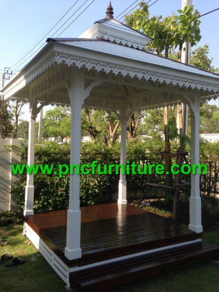 ศาลาไม้ในสวน ศาลานั่งเล่น ศาลาสีสาว ศาลาสวยๆ แบบศาลา