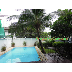4 bedroom house for rent with private swimming pool in Pridi Banomyong