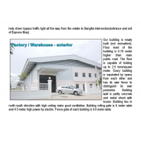 Warehouse or Factory about 1,200 sq m. for rent in Prakasa near Bangpu Industrail