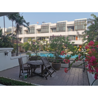 Garden house 4 bedroom townhouse with swimming pool for rent in Rama 3 or Narathiwas road