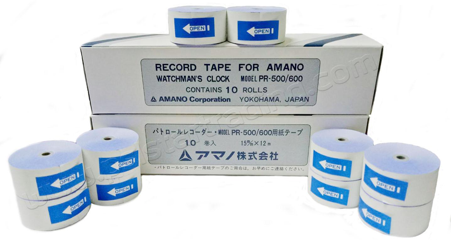 กระดาษนาฬิกายาม, กระดาษนาฬิกายาม AMANO, PR600, เทป PR 600
