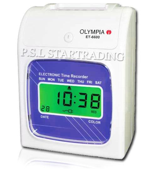 เครื่องตอกบัตร, นาฬิกาตอกบัตร, OLYMPIA, ET 6600, โอลิมเปีย, OLYMPIA, เครื่องตอกบัตร OLYMPIA รุ่น ET 6600