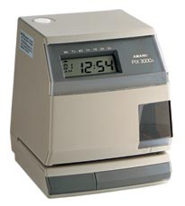 เครื่องแสตมป์เวลา, เครื่องแสตมป์เอกสาร, บัตรจอดรถ, AMANO PIX3000