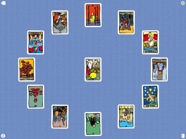 ภาพประกอบจากโปรแกรม Ator Tarot ใน iPad