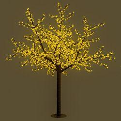 อุปกรณ์ไฟฟ้าแอลอีดีซากุระนำเข้าพิเศษสีขาวต้นยืนได้เหลือง