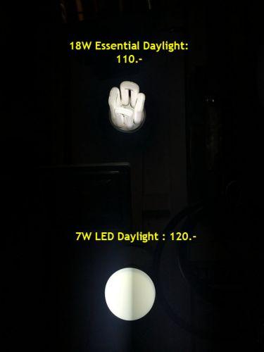 ความสว่างหลอดไฟขั้วเกลียวE27-7W-11W