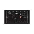 DSPPA MAG808C Network port balanced output audio  Audio signal level indicator Partition source control and volume control  With digital screen & 24VDC power supply  MP3 play and independent volume control knob  1 line input and independent volume co