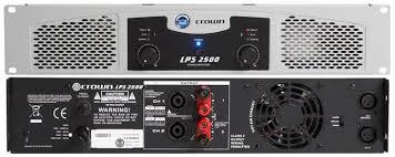 crown lps 2500 power amplifier 725 watt 4 ohms 550 watt 8 ohms. Black Bedroom Furniture Sets. Home Design Ideas