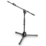 GRAVITY GMS4212B Short Microphone Stand ขาตั้งไมโครโฟน(สั้น) แบบ Steel maximum height of 74 cm สีดำ 1-Point Adjustment Boom