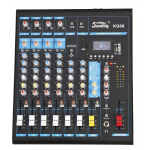 Soundking KG08  มิกเซอร์ 8-input Professional Audio Mixing Console with MP3/USB/SD Audio Recording