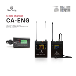 Clean audio CA-ENG Single Channel Camera wireless microphone system