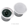 "EV,Electro-Voice evid C8.2 8"" coaxial 2way speaker with horn loaded Ti coated tweeter-complete with back can enclosure , tile rails , and mounting ring –for 70v/100v  or  8 omh. Operation."