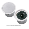 "EV,Electro-Voice evid C8.2LP 8"" coaxial 2way speaker with horn loaded Ti coated tweeter-complete with Low-profile back can enclosure , tile rails , and mounting ring –for 70v/100v  or  8 omh. Operation."