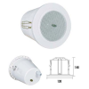 ITC itC T-103D 4'' spot series mini ceiling speaker  Economy range of excellent sound quality  Fast installation by spring clip  2 power taps at 100V output  IP 66 waterproof design for bathroom and toilet use  Full sealed with ABS back cover