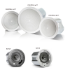 "JBL control 16 C/T Two-Way 6.5"" Coaxial Ceiling Loudspeaker  Control 16C/T is a full-range ceiling speaker consisting of a 165 mm (6.5 inch) high tech cone driver and a 19mm soft-dome liquid cooled tweeter mounted in a vented, paintable baffle m"