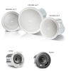 "JBL control 14 C/T Two-Way 4"" CoaxialCeiling Loudspeaker  Control 14C/T is a full-range ceiling speaker consisting of a 100 mm (4 inch) high tech cone driver and a 19 mm soft-dome liquid cooled tweeter mounted in a vented, paintable baffle made"
