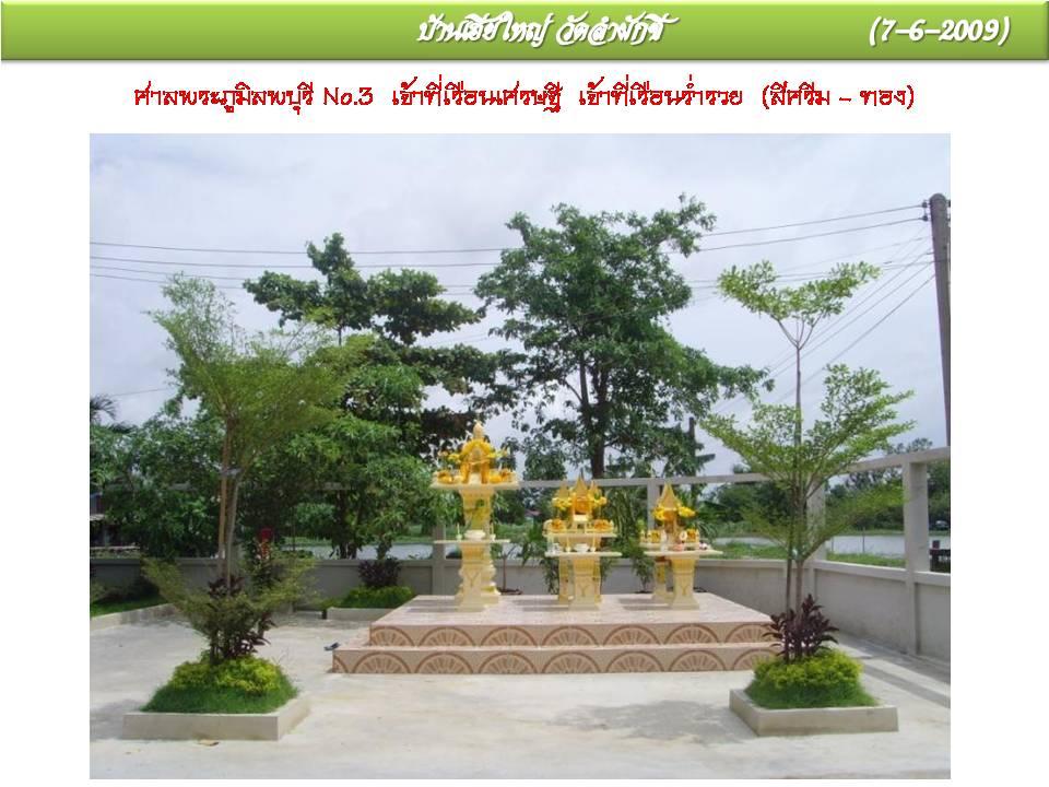 ศาลพระภูมิทรงลพบุรี  ศาลเจ้าที่เรือนเศรษฐี เรือนร่ำรวย